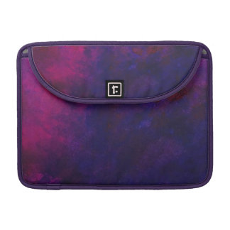Deep Purple And Gold Modern Abstract Art Painting Sleeve For MacBook Pro