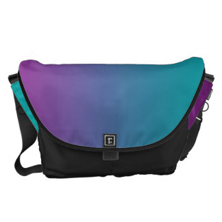 Deep Purple And Teal Large Courier Bag