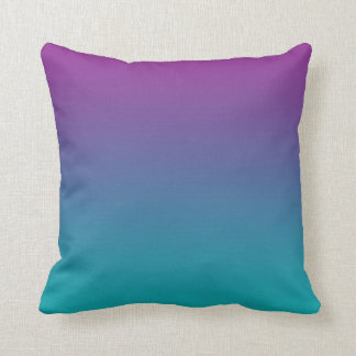 """Deep Purple And Teal Ombre"" Throw Pillow"