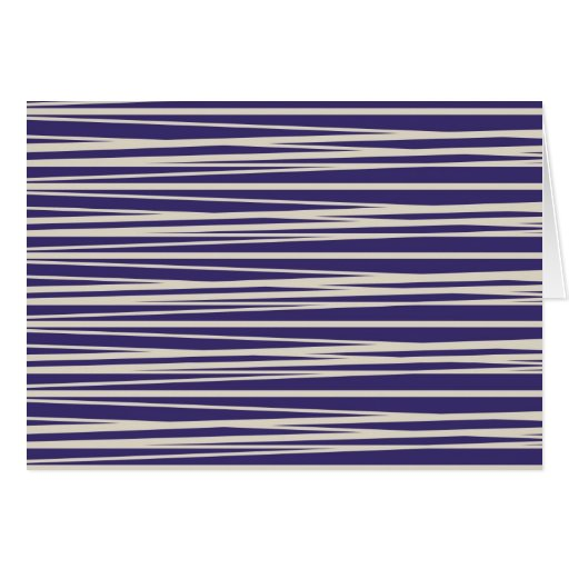 Deep Purple and White Stripes Pattern Gifts Greeting Card