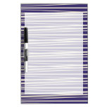 Deep Purple and White Stripes Pattern Gifts Dry-Erase Whiteboard