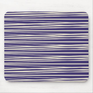 Deep Purple and White Stripes Pattern Gifts Mouse Pad