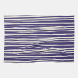 Deep Purple and White Stripes Pattern Gifts Towel