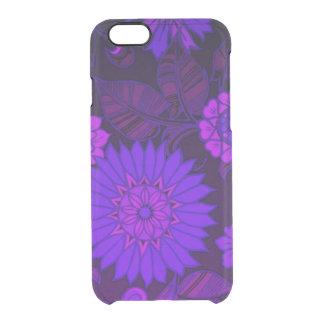 Deep Purple Art Deco Design Clear iPhone 6/6S Case
