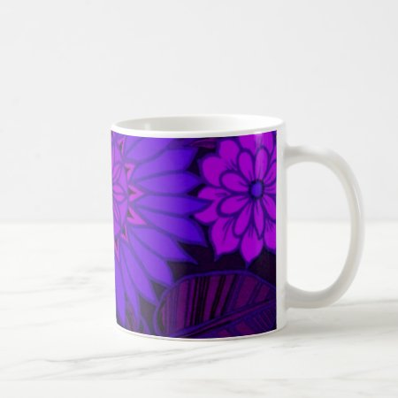 Deep Purple Art Deco Design Coffee Mug