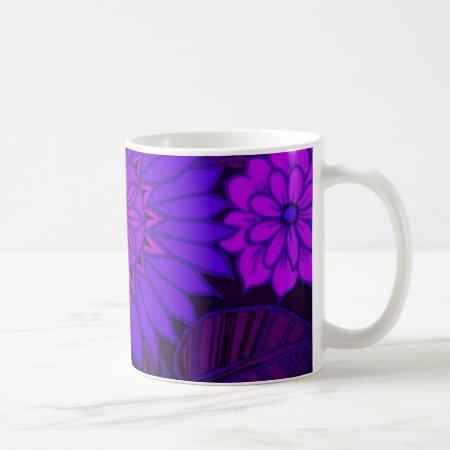 Deep Purple Art Deco Design Coffee Mug