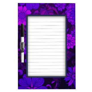 Deep Purple Art Deco Design Dry Erase Board