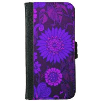 Deep Purple Art Deco Design iPhone 6 Wallet Case