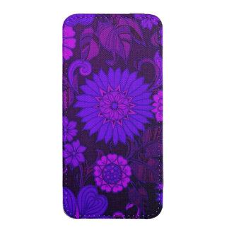 Deep Purple Art Deco Design iPhone SE/5/5s/5c Pouch