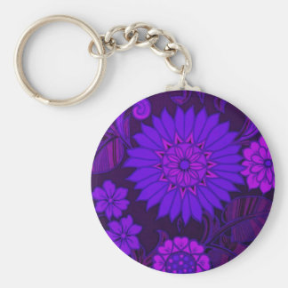 Deep Purple Art Deco Design Key Chains