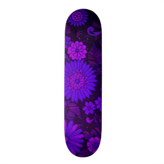 Deep Purple Art Deco Design Skateboard Deck