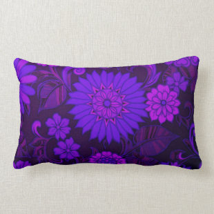 Deep Purple Art Deco Design Throw Pillow