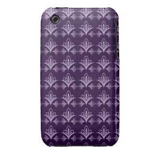 Deep Purple Art Nouveau Floral Abstract iPhone 3 Cover