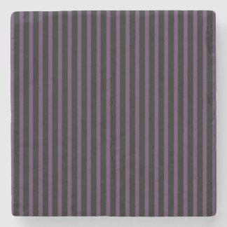 Deep Purple Black Stripe Stone Coaster