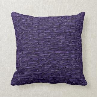 Deep Purple Brick Pattern Lumbar and Throw Pillows