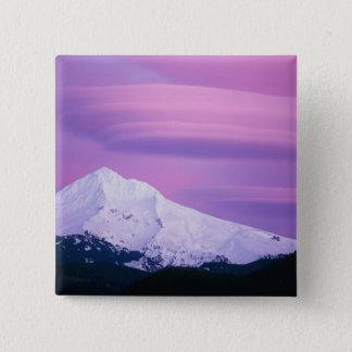 Deep purple clouds surround Mount Hood, in Button