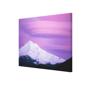 Deep purple clouds surround Mount Hood, in Gallery Wrapped Canvas