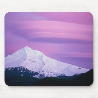Deep purple clouds surround Mount Hood, in Mouse Pad