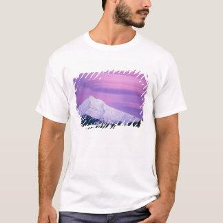Deep purple clouds surround Mount Hood, in T-Shirt