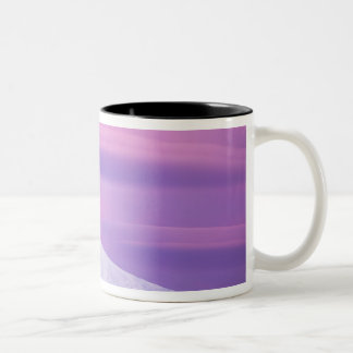 Deep purple clouds surround Mount Hood, in Two-Tone Coffee Mug