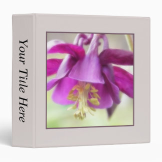 Deep Purple Columbine (Aquilegia) Petals Binder