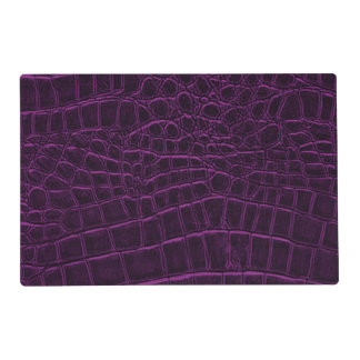 Deep Purple Custom Leather Texture Placemat