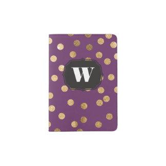 Deep Purple Custom Monogram Passport Cover