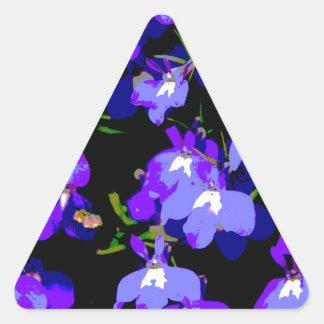 Deep Purple Delight Triangle Sticker
