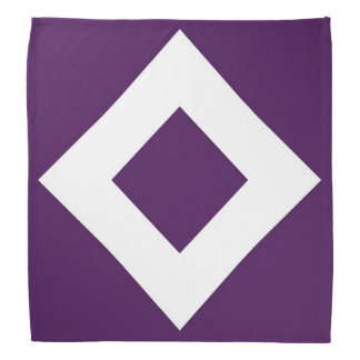 Deep Purple Diamond, Bold White Border Bandana