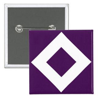 Deep Purple Diamond, Bold White Border Pinback Button