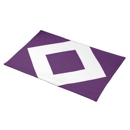 Deep Purple Diamond, Bold White Border Placemat