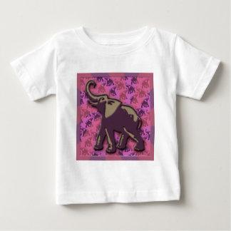 Deep Purple Elephant Baby T-Shirt