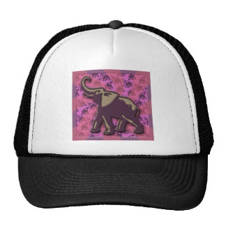 Deep Purple Elephant Trucker Hat