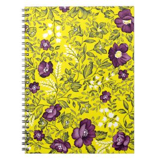 Deep Purple Floral Notebook