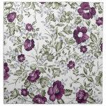 Deep Purple floral Servilletas