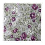 Deep Purple Floral Tiles
