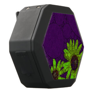 Deep Purple Florescent Sunflowers Black Bluetooth Speaker