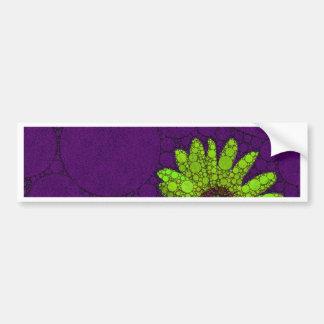 Deep Purple Florescent Sunflowers Car Bumper Sticker