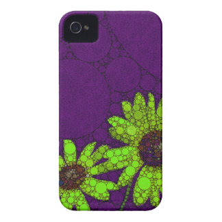 Deep Purple Florescent Sunflowers iPhone 4 Case