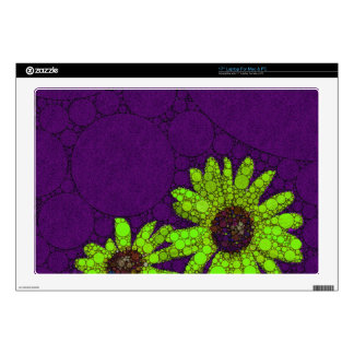 Deep Purple Florescent Sunflowers Laptop Skins