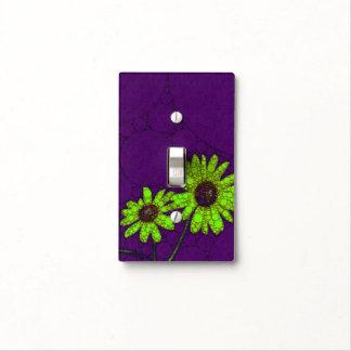 Deep Purple Florescent Sunflowers Light Switch Cover