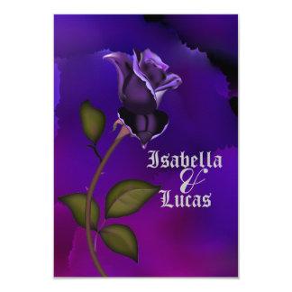Deep Purple Goth Rose  Wedding Card