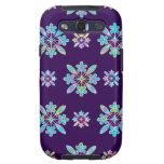 Deep Purple Hawaiian Quilt Pattern Case Samsung Galaxy SIII Case