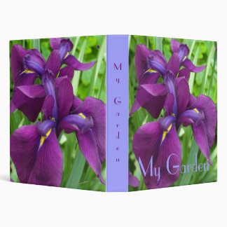 Deep Purple Iris Binder