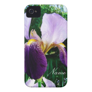 Deep Purple Iris Close Up Personalized iPhone Case iPhone 4 Covers