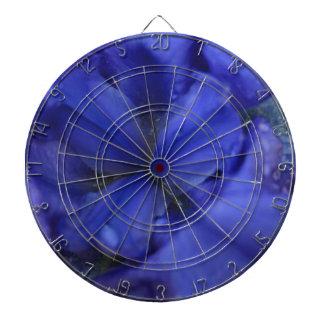 Deep Purple Iris with Water Drops Dartboards