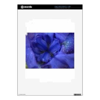 Deep Purple Iris with Water Drops Skin For iPad 2