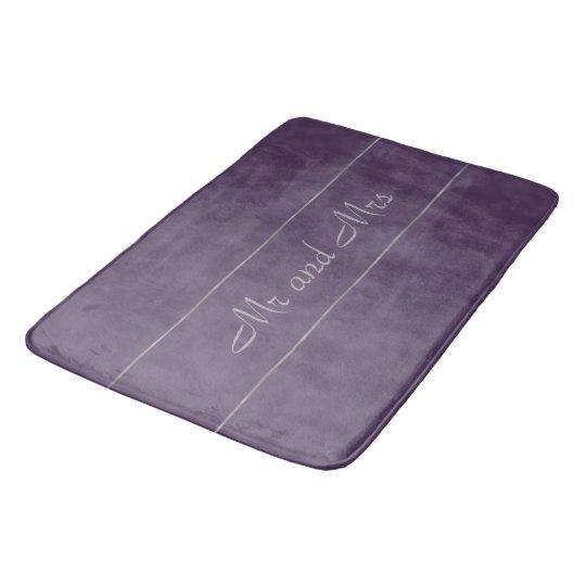 Deep Purple Lavender Gray Stripe Bath Mat Zazzle Com