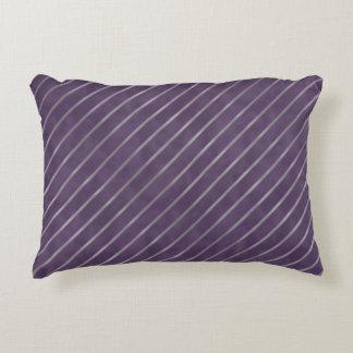 Deep Purple Lavender Stripe Decorative Pillow