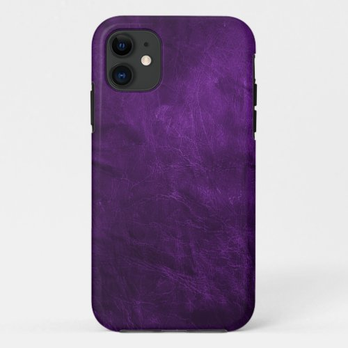 Deep Purple Leather Phone Case